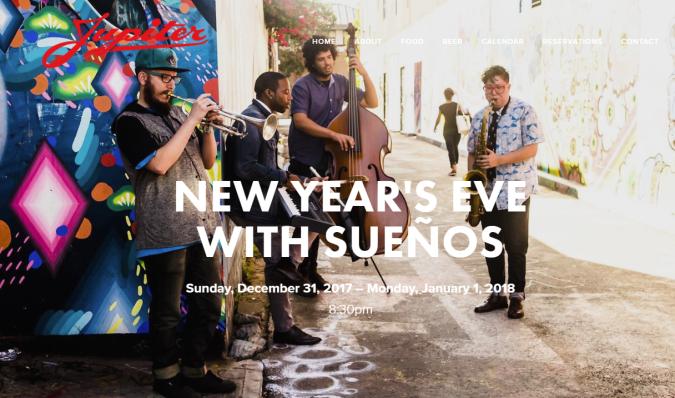 Jupiter New Year's Eve with Suenos