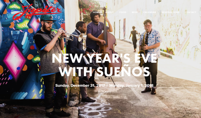 Jupiter New Year's Eve with Suenos