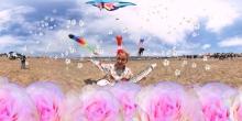Gabby La La Snow Angel We Love Kite Fest Berkeley